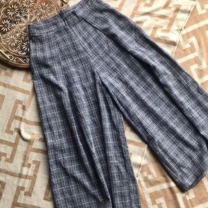 Checked Plaid {Lulu's} Wide Leg Culottes Gauchos